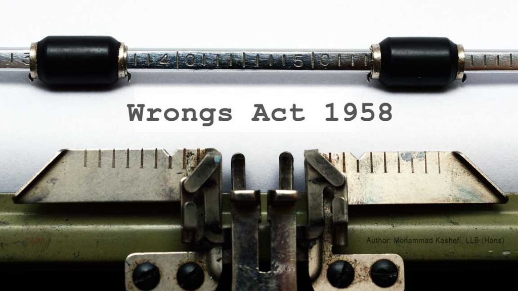 Action in Negligence Against a Public Authority – Wrongs Act 1958 (VIC)