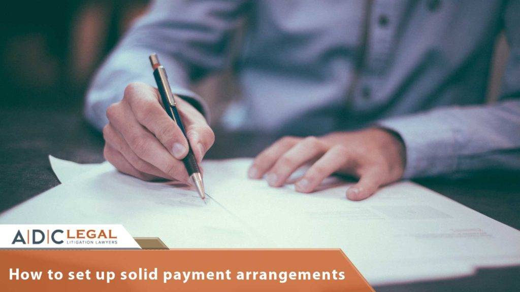 How to set up solid payment arrangements